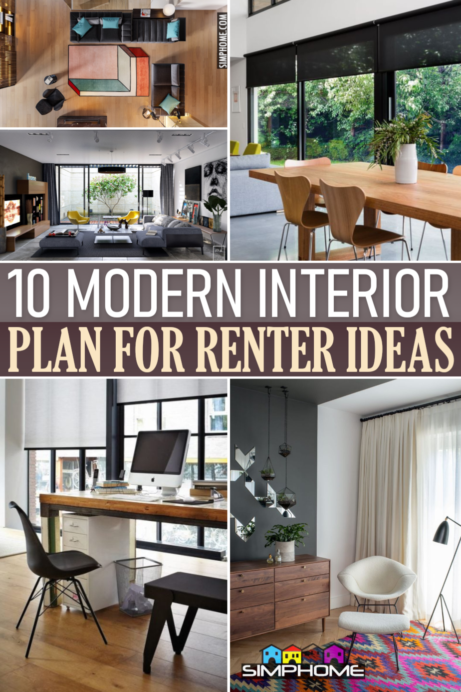 10 Modern Interior Plan for Renters via Simphome.comFeatured