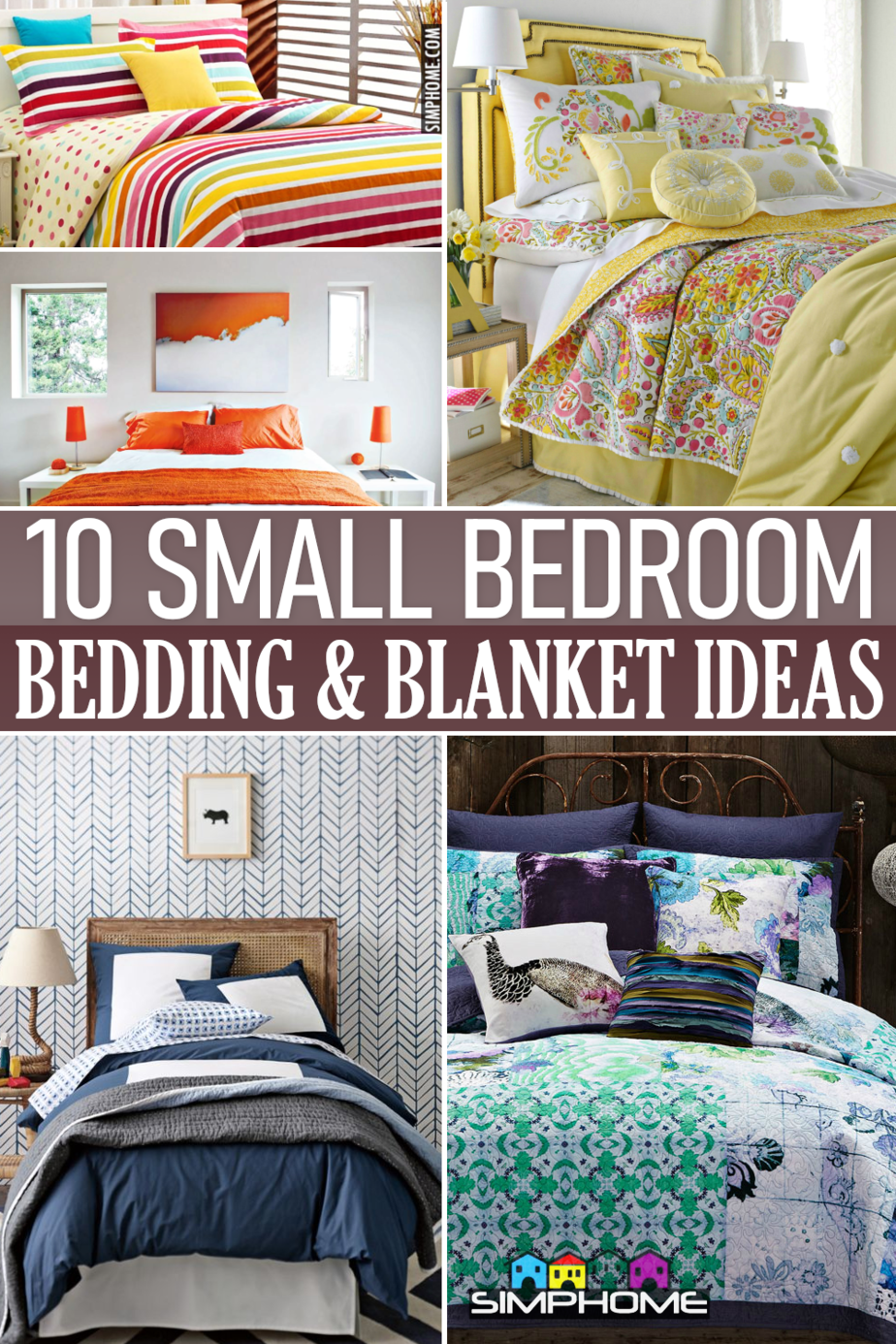 10 Small Bedroom Bedding and Blanket via Simphome.comFeatured
