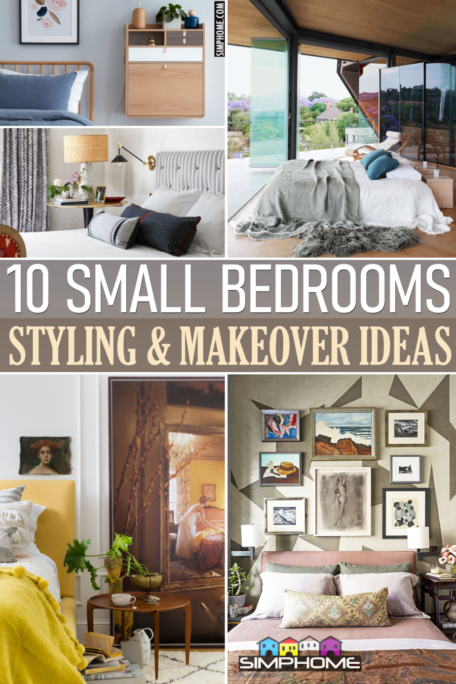 10 Small Bedroom Styling Ideas via Simphome.comThumbnail