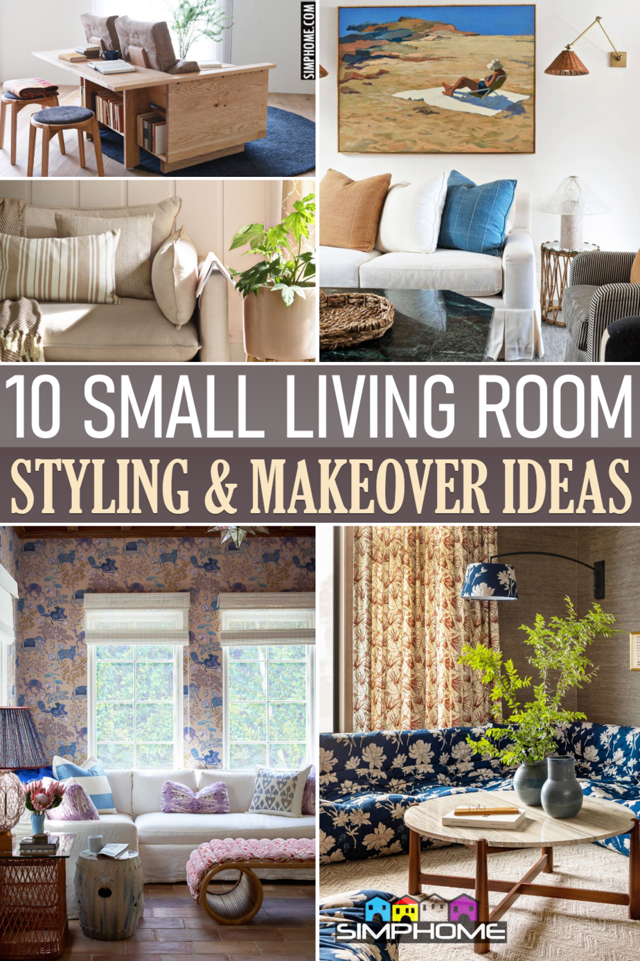 10 Small Living Room Styling Ideas VIA Simphome.comFeatured