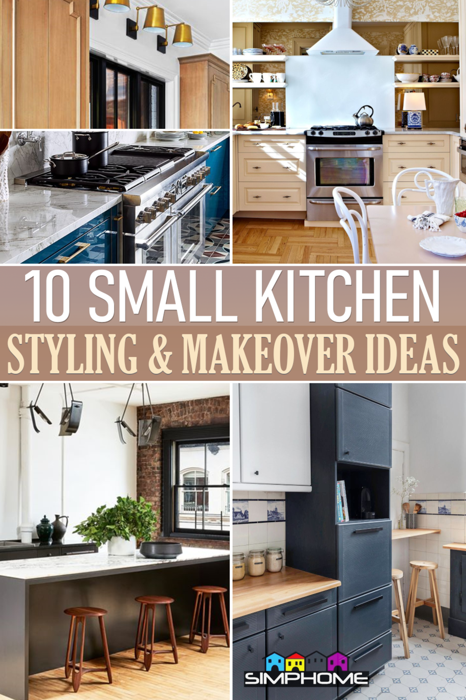 10 Small kitchen styling ideas via Simphome.comFeatured
