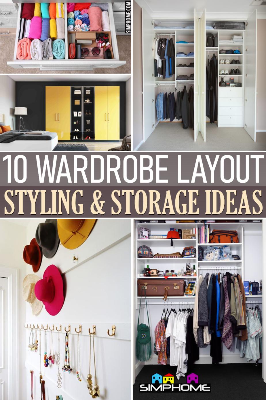 10 Wardrobe Layout Storage Ideas via Simphome.comFeatured
