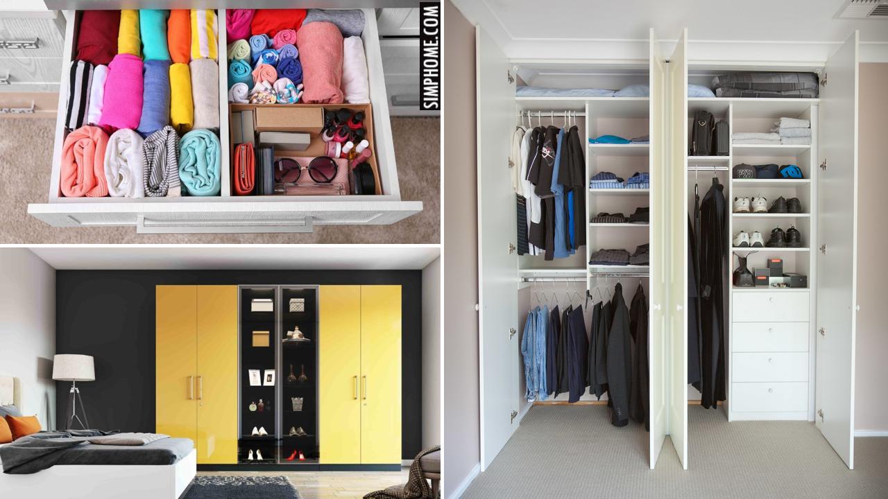 10 Wardrobe Layout Storage Ideas via Simphome.comYoutube thumbnail