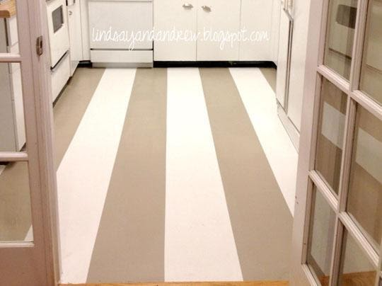 10. Painting over Linoleum Flooring by simphome.com