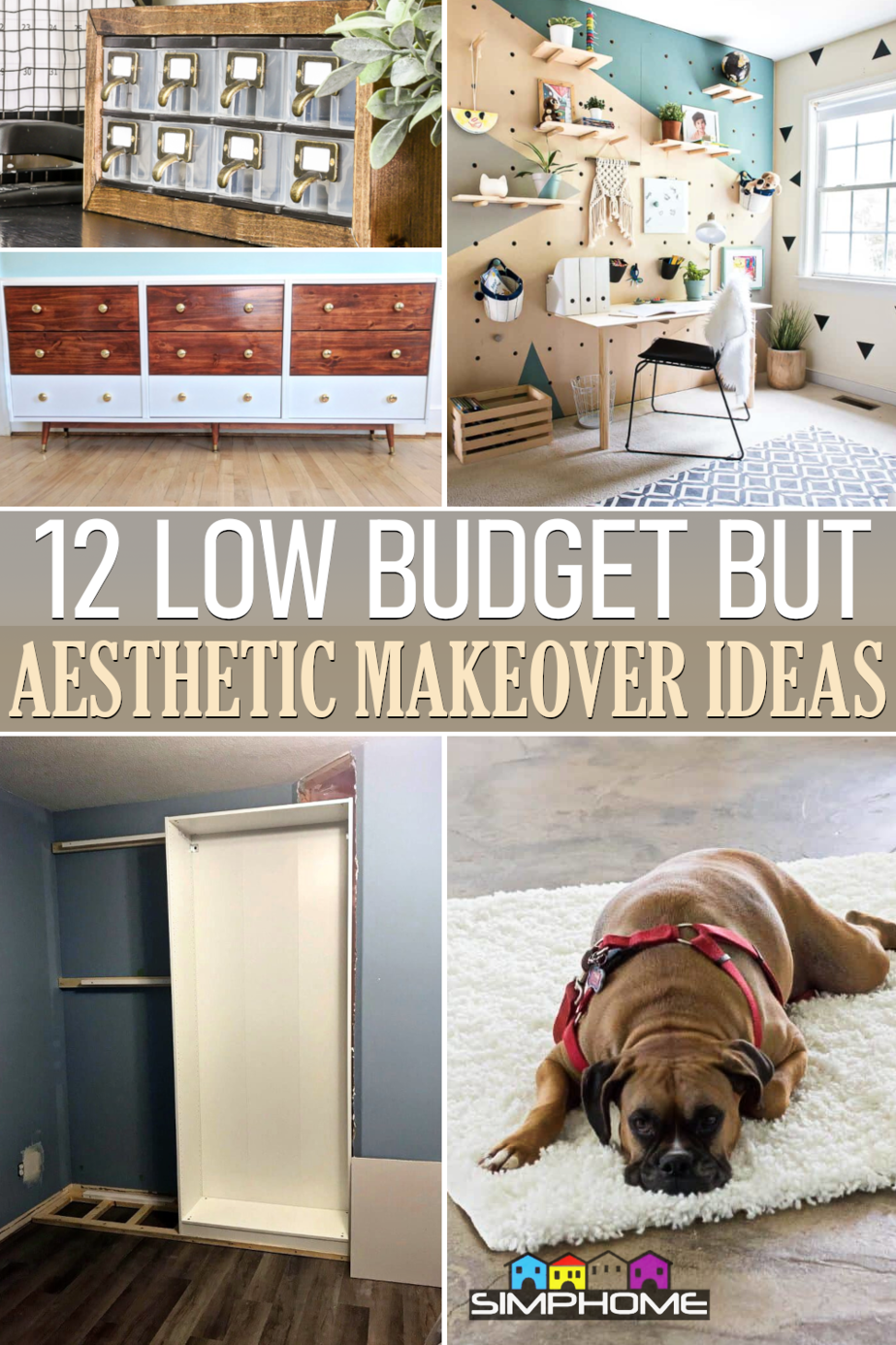 12 Low Budget But Aesthetic Bedroom Makeover Ideas via Simphome.comFeatured
