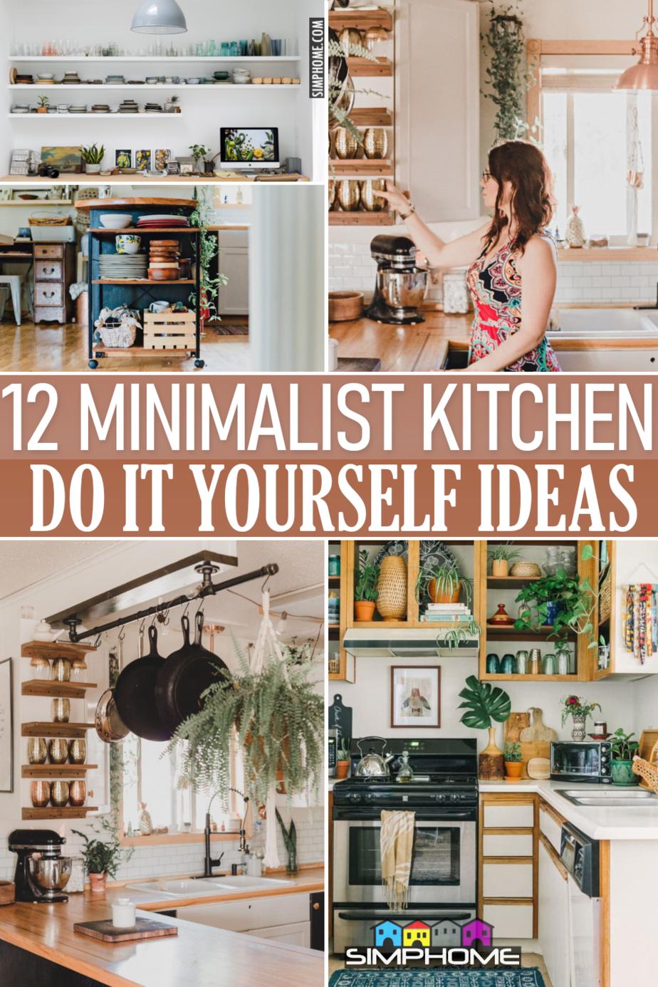 12 Minimalist Kitchen DIY ideas via Simphome.comFeatured Image