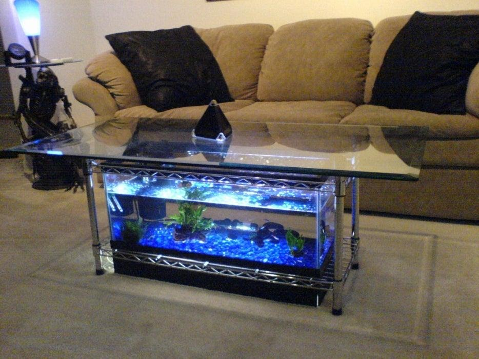 4. Fish Tank Coffee Table by simphome.com
