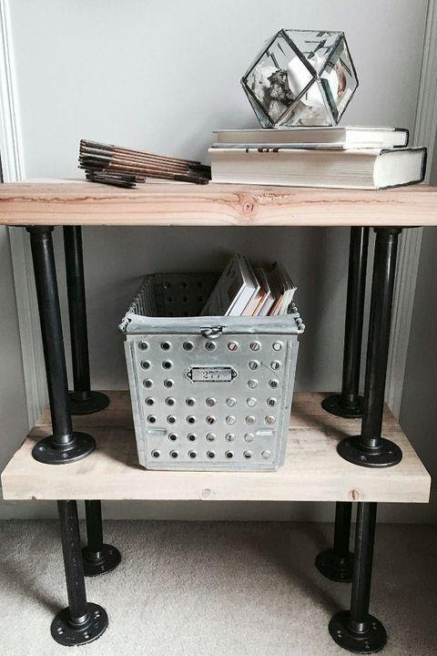 4. Industrial End Table by simphome.com