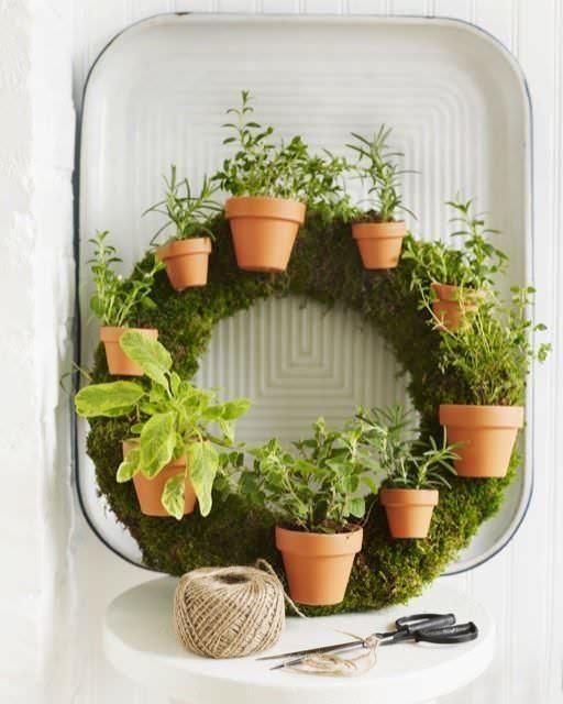 6. Living Wreath by simphome.com