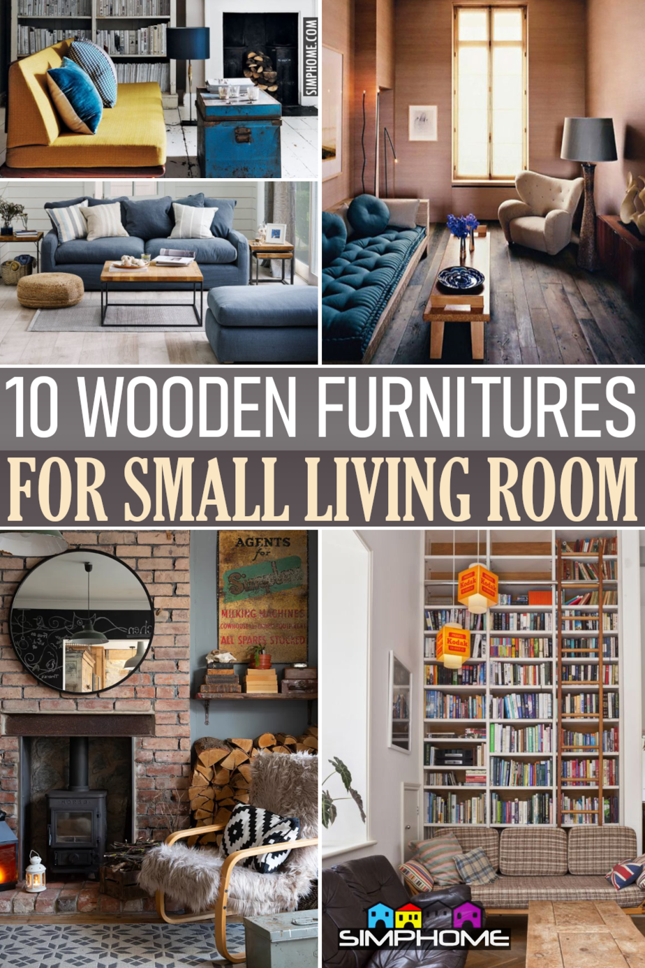 Wooden Furniture for living room via Simphome.comFeatured