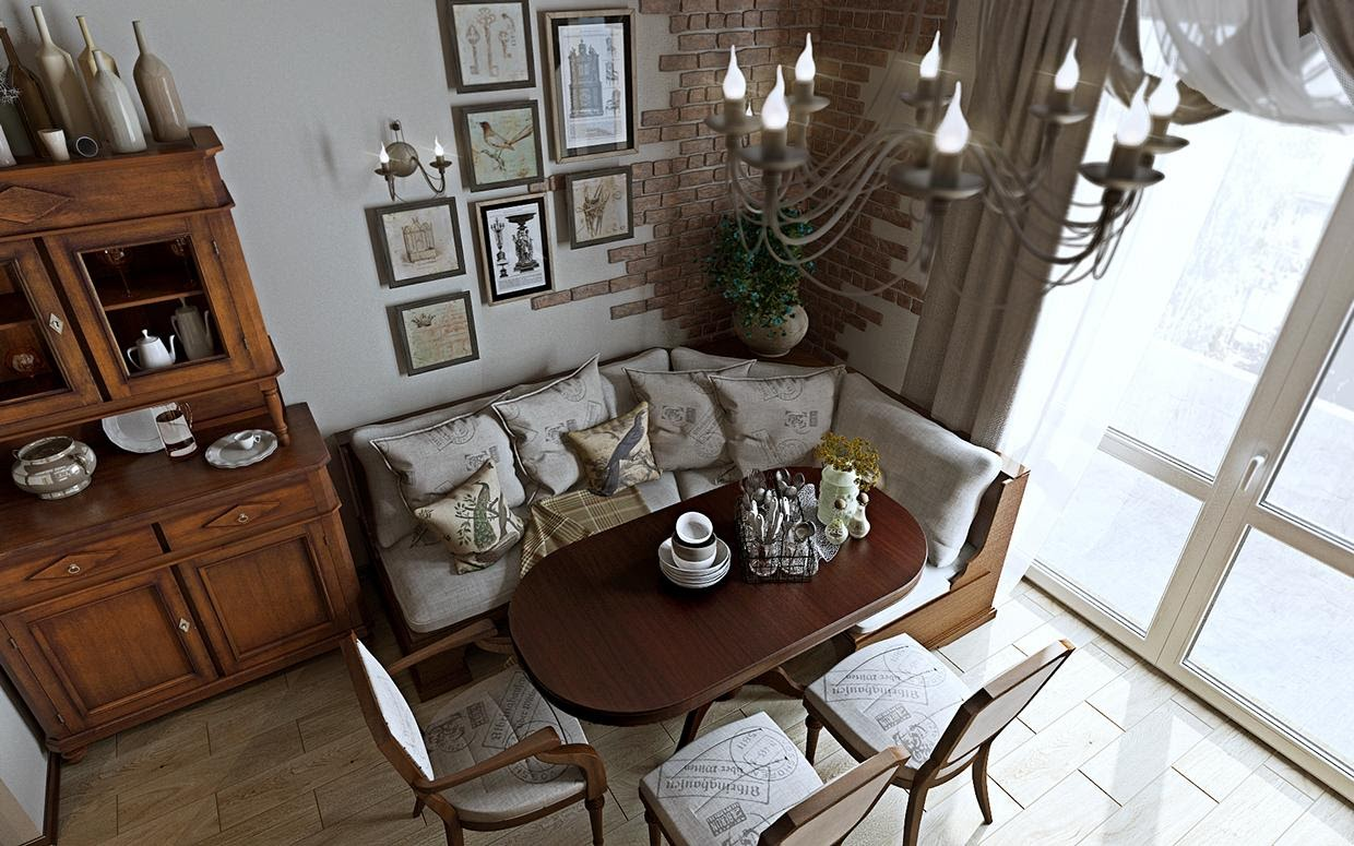 1. Add a Breakfast Nook to Your Kitchen by simphome.com