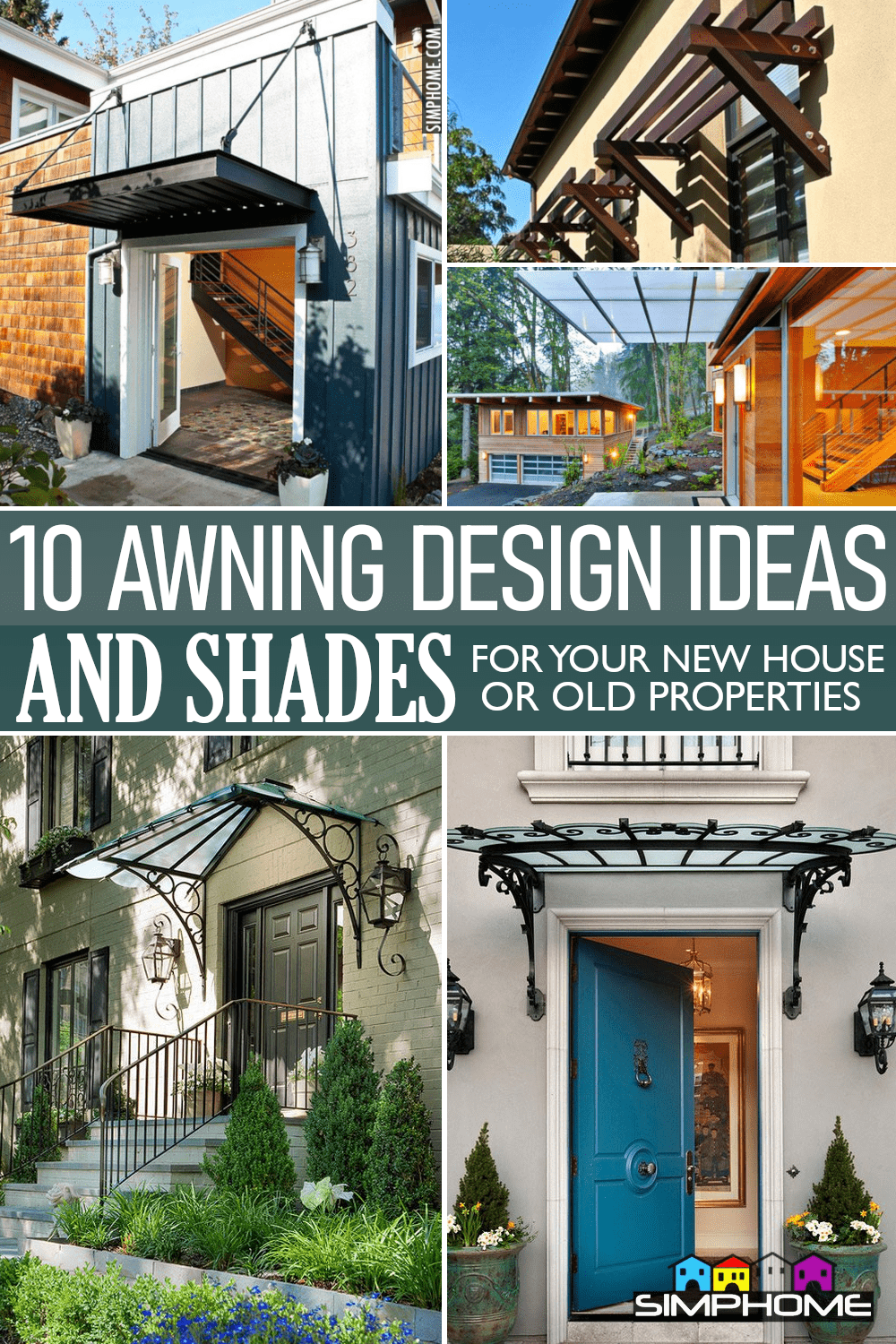 10 Awning Ideas and Shade via Simphome.comFeatured image