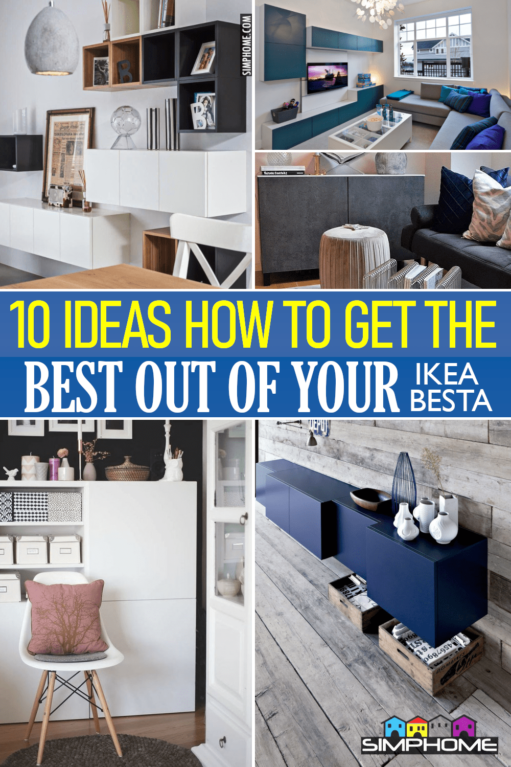 10 Ideas How to Get the Best out of IKEA BESTA Unit via Simphome.comFeatured