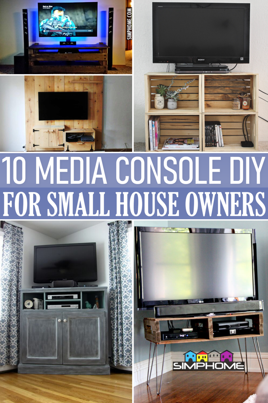 10 Media Console Ideas for Small Property Renters VIA Simphome.comFeatured