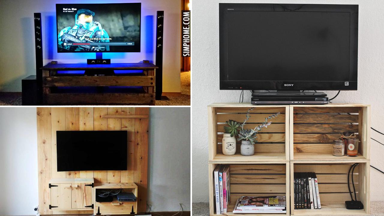 10 Media Consoles DIY for small house VIA Simphome.comThumbnail