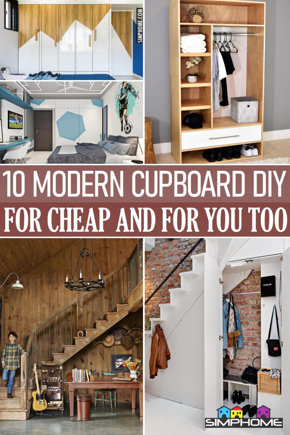 10 Modern Cupboard Design for Cheap via Simphome.com Featured