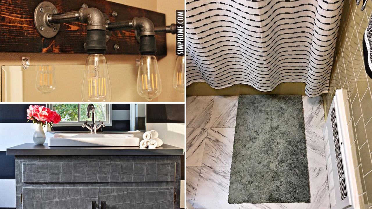 10 Renter Friendly Bathroom Decor Ideas via Simphome.com