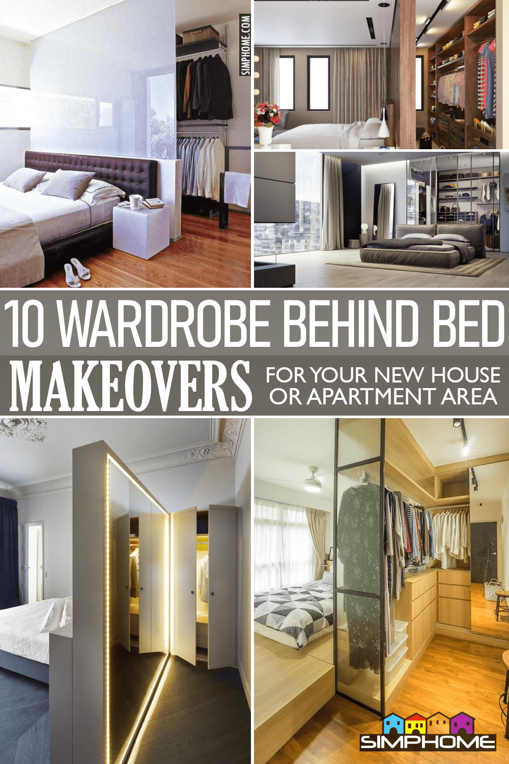 10 Wardrobe Behind Bed Ideas via Simphome.comFeatured image