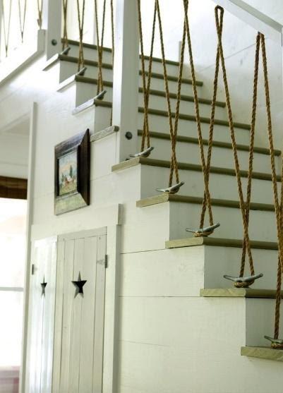 10. Nautical Stair Railing by simphome.com