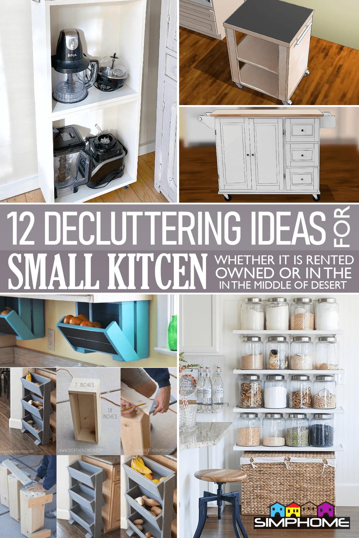 12 Small Kitchen Decluttering Ideas via Simphome.comFeaturedLong Image