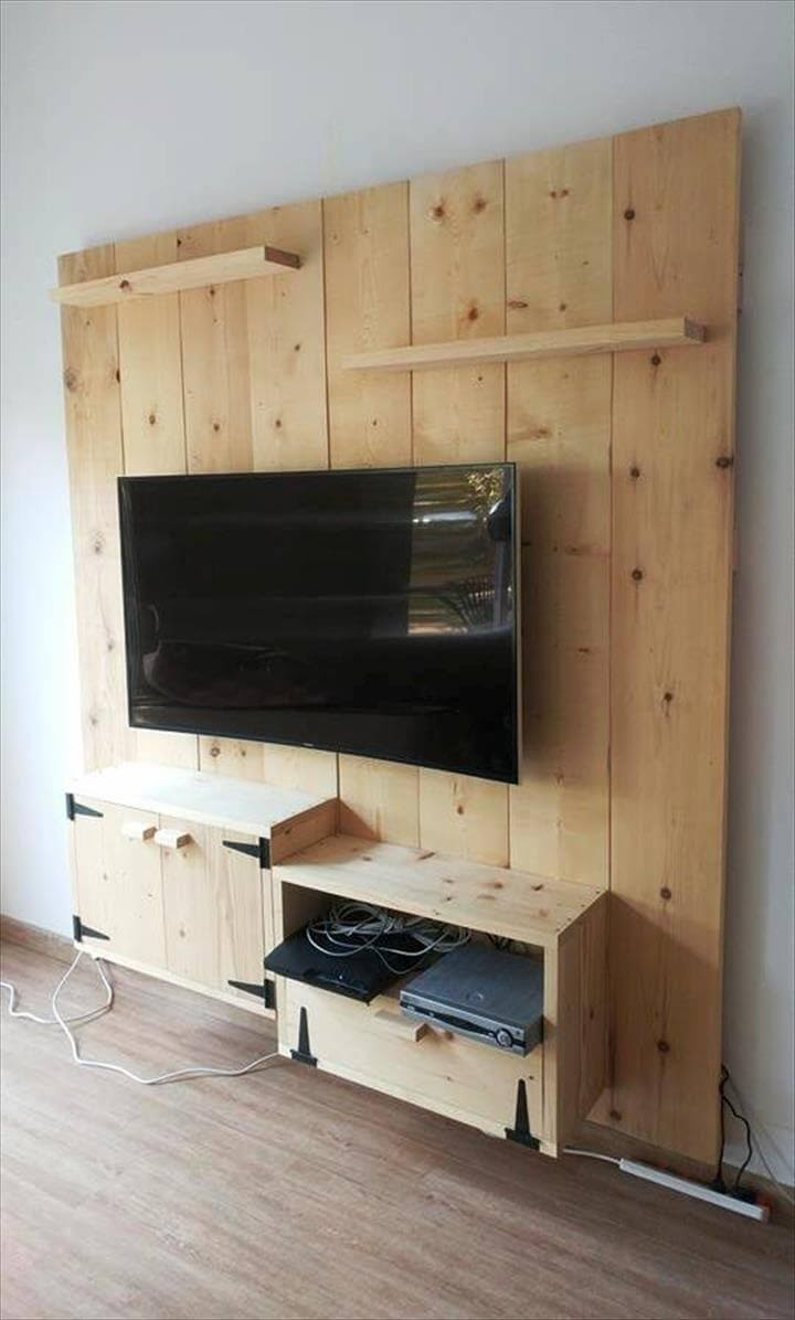 3. Wooden Media Console Concept by simphome.com