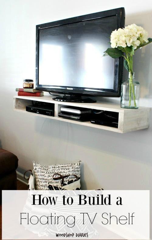 4. Floating TV Shelf by simphome.com