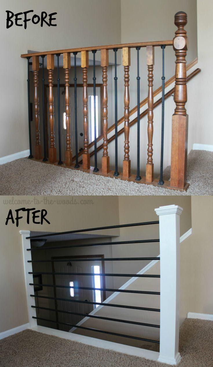 5. Modern Stair Railing by simphome.com