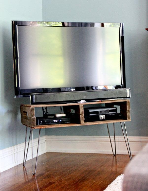 5. Rustic and Modern Media console concept by simphome.com
