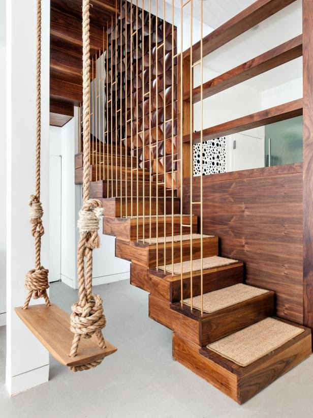 6. Copper Stair Railing by simphome.com