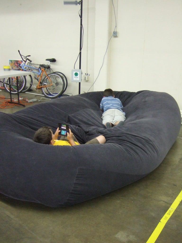 1. Bean Bag Sofa Bed by simphome.com