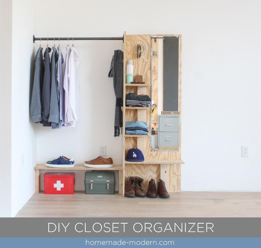 1. DIY Closet Organizer by simphome.com