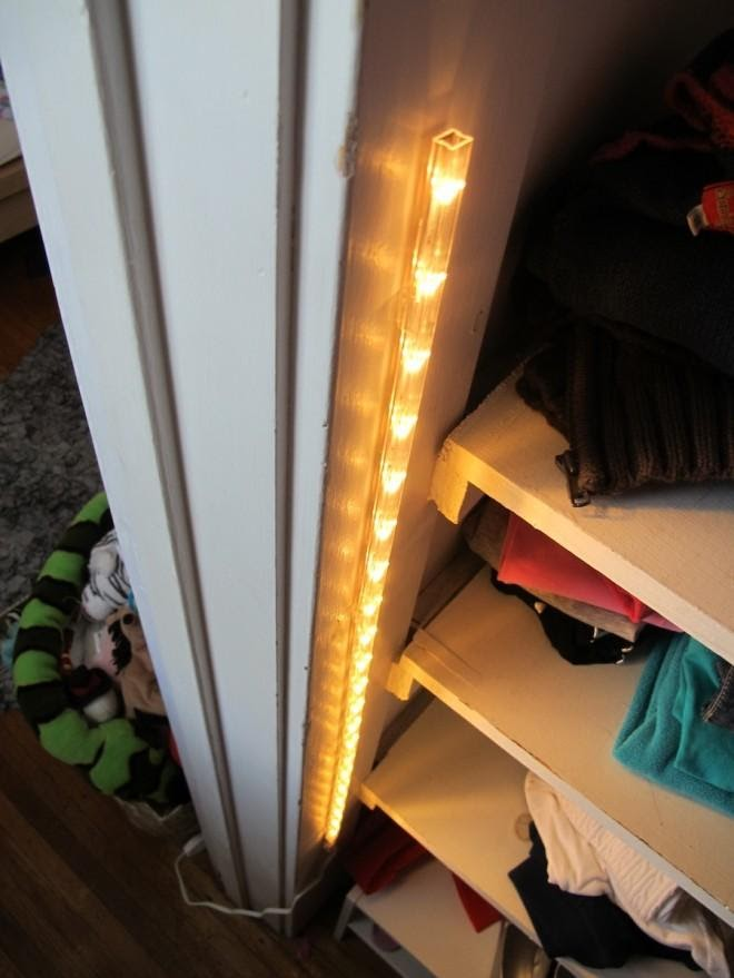 1.Install The Lights in Your Closet So You Can Find Old Clothes Hidden in The Back by simphome.com
