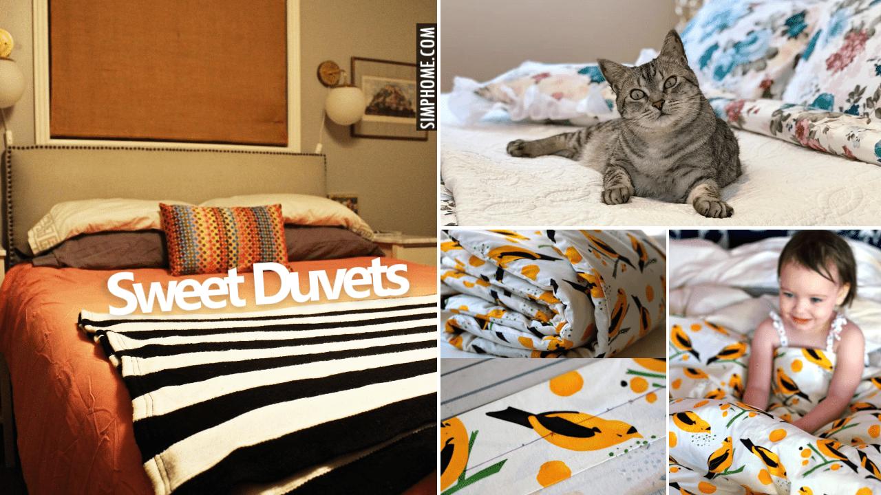 10 DIY Duvet Makeover with Sew and no Sews via Simphome.comYoutube thumbnail 2