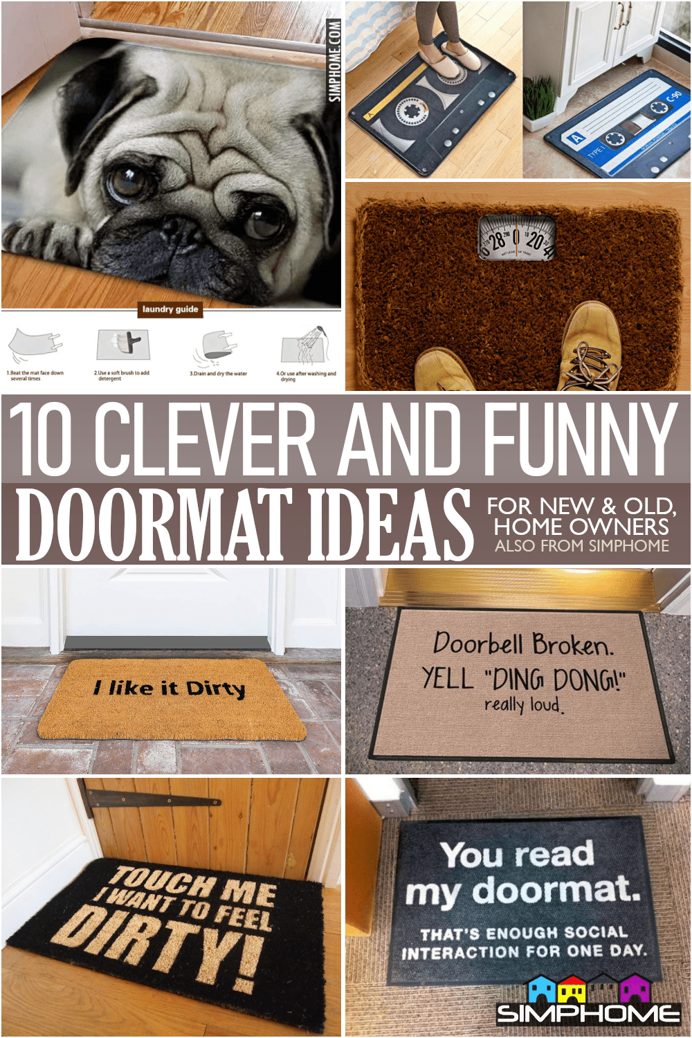 10 Doormat Ideas Unique Clever and Funny via Simphome.comFeatured