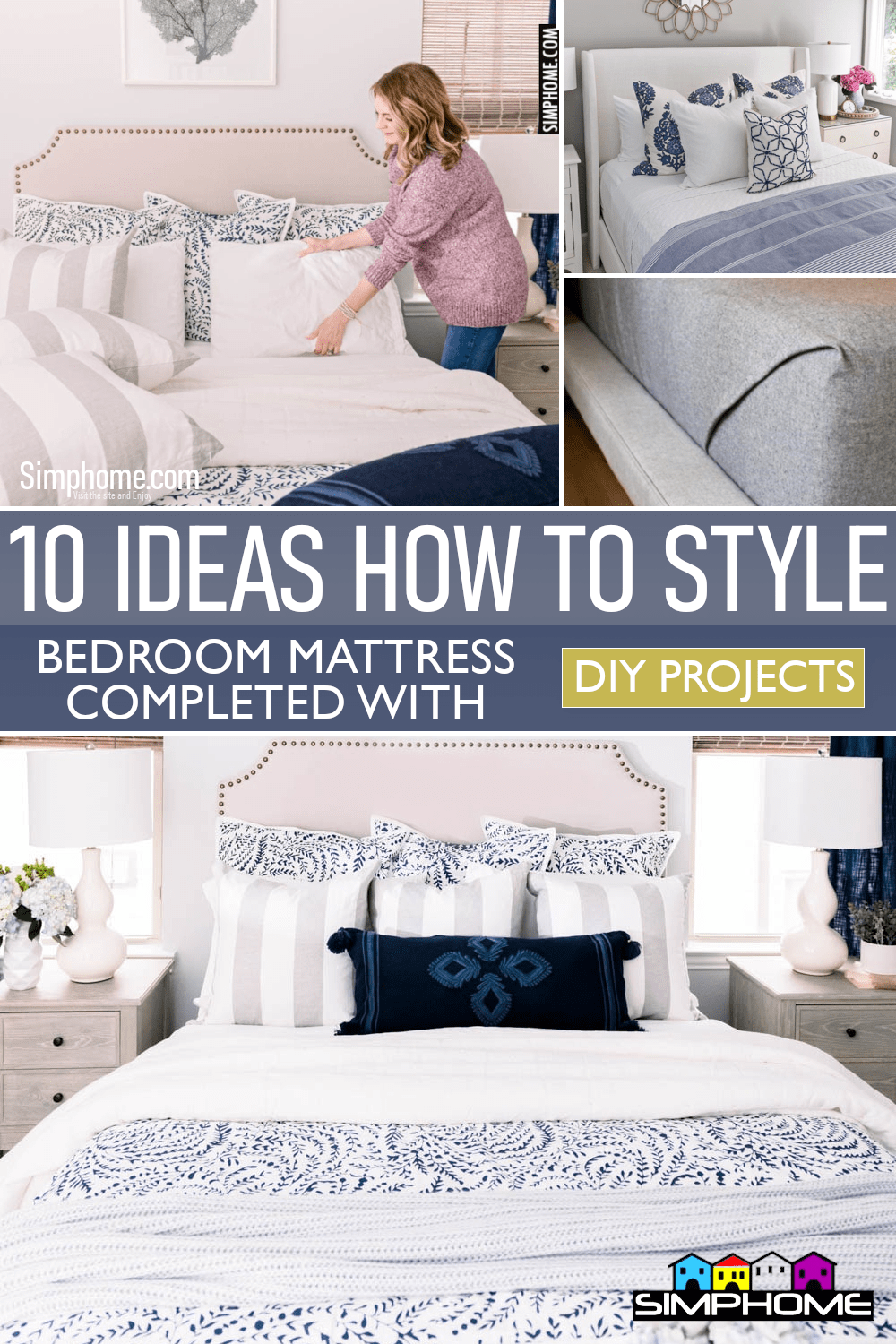10 Ideas How to Style Your Bedroom Mattress via Simphome.comFeatured