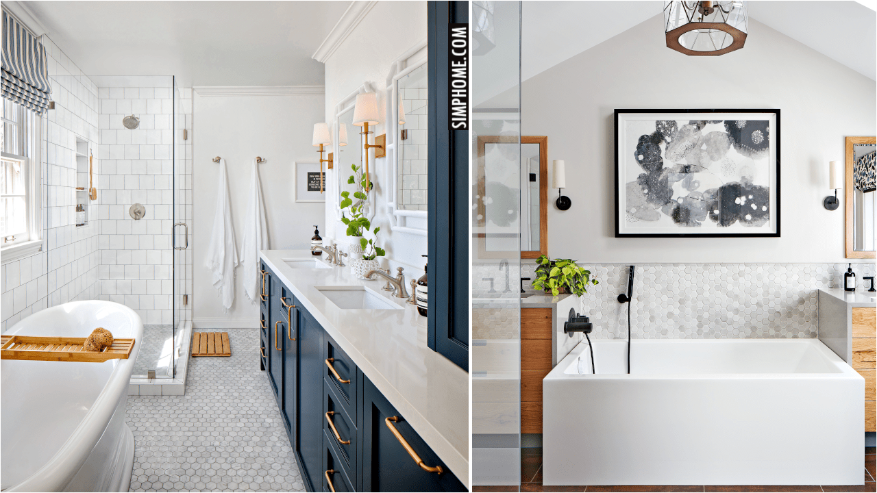 10 Long and Narrow Bathroom Layout Ideas via Simphome.comYT