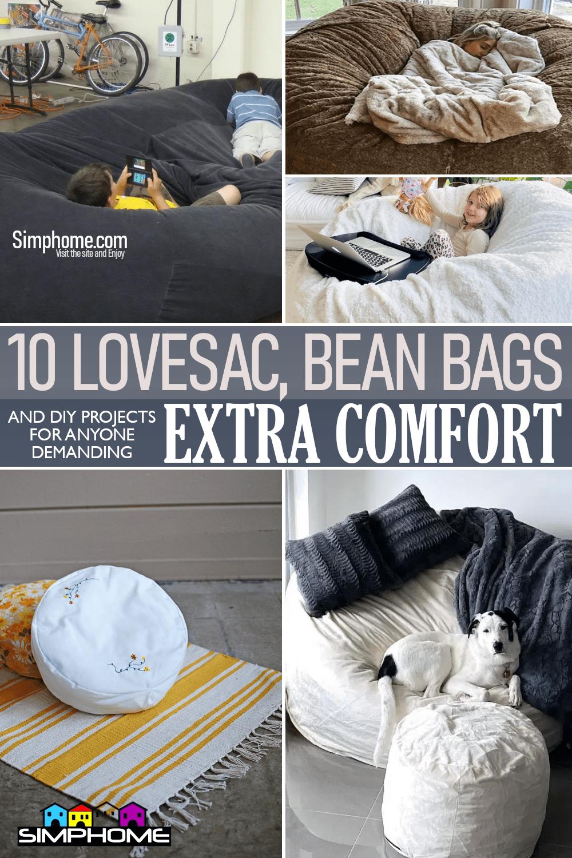 10 Lovesac and DIY Bean Bag Ideas via Simphome.comFeaturing