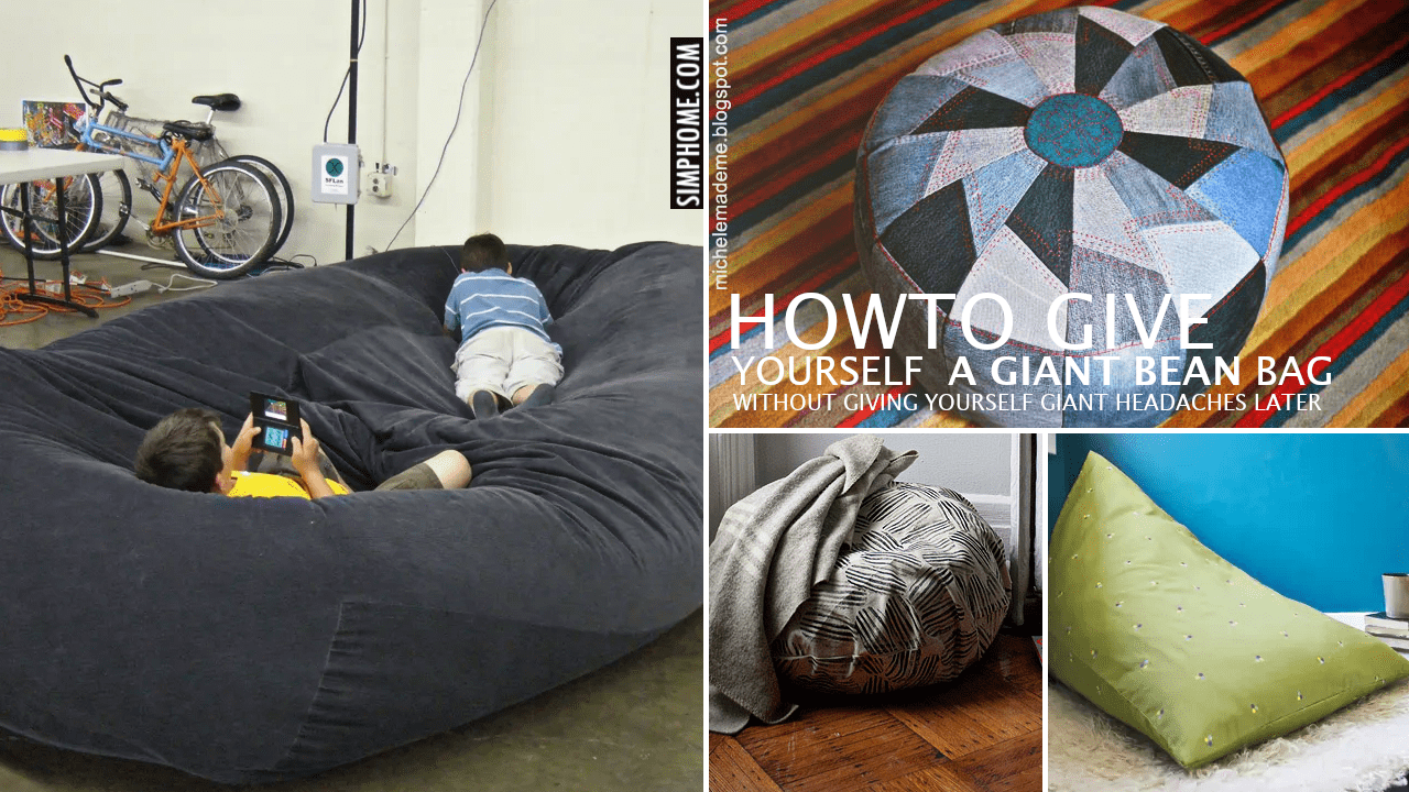 10 Lovesac and DIY Bean Bag Ideas via Simphome.comYoutube thumbnail no border