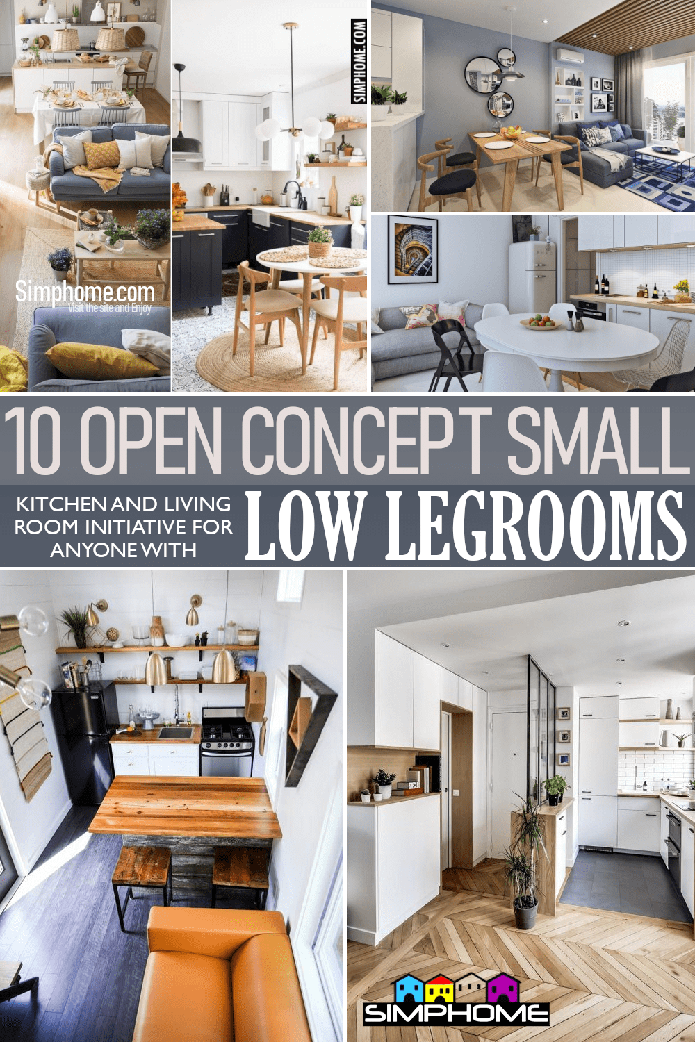 10 Open Concept Small Living Room and Kitchen Ideas via Simphome.comFeatured