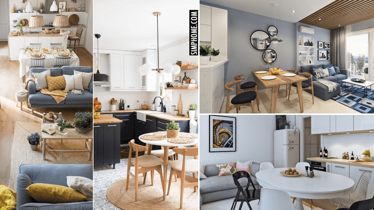 10 Open Concept Small Living Room and Kitchen Ideas via Simphome.comYoutube thumbnail