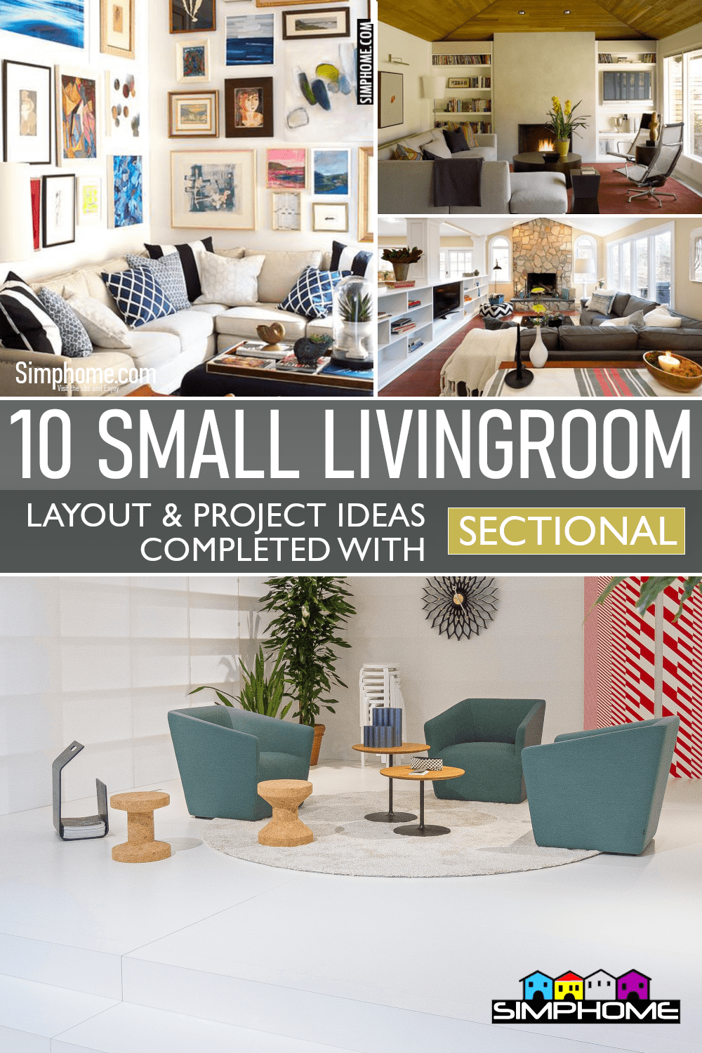 10 Small Living Room Layout with Sectional via Simphome.comFeatured