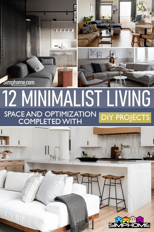 12 Minimalist Living Space Ideas by Simphome.com