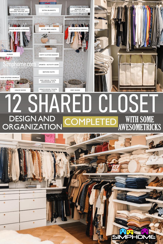 12 Shared Closet Organization Ideas via SimphomeFeatured