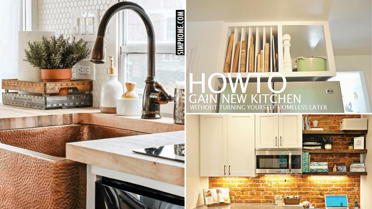 12 Small Kitchen Renovation Ideas On A Budget via Simphome.comNo border