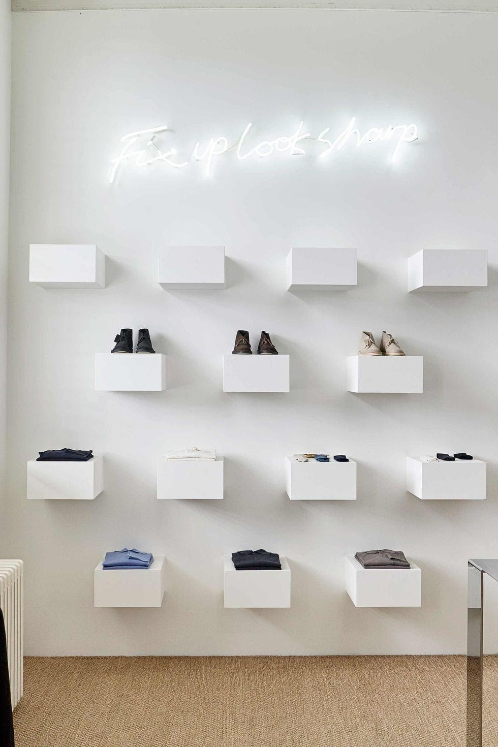 12. Create a Floating Cubby Wall Instead of a Classic Shelving Unit by simphome.com