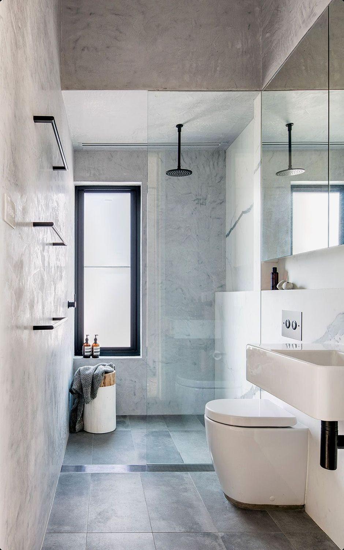 2. Minimalist Narrow Bathroom by simphome.com
