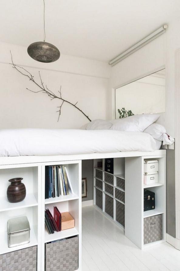 4. King size loft bed idea by simphome.com .
