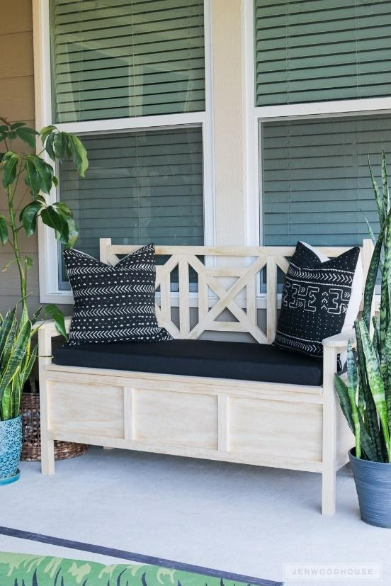 4. Outdoor Bench with Storage by simphome.com