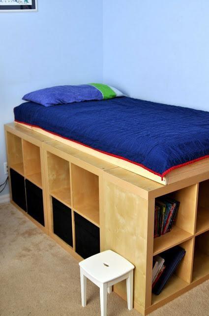 4. Simple Platform with Shelves by simphome.com