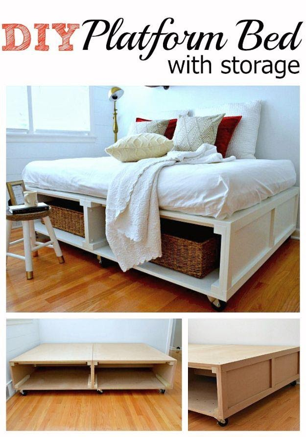 5. DIY Platform Bed with Casters by simphome.com